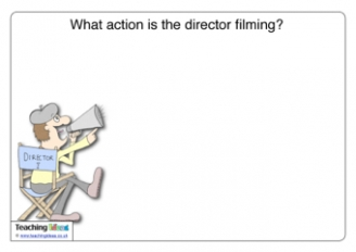What action is the director filming?