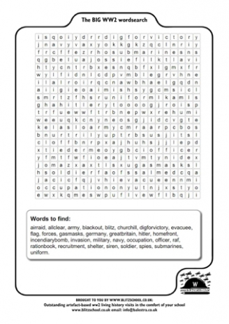 World War II Wordsearch