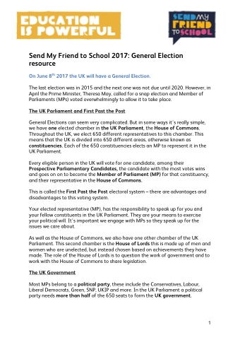2017 General Election Resources