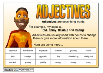 adjectives resources teaching ideas