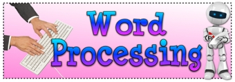Word Processing Banner