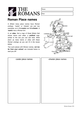 Think About Roman Place Names And See How They Are Similar To Present Day UK