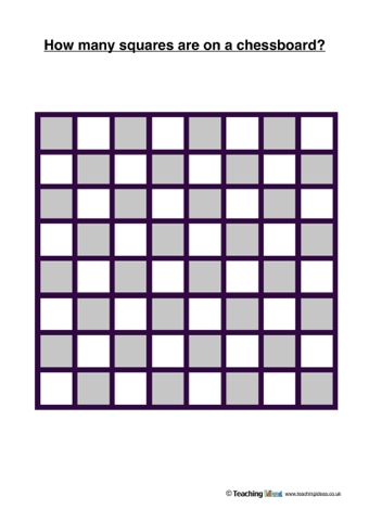 How Many Squares On A Chessboard? | Teaching Ideas