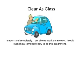 Clear as Glass?