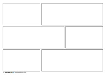 six panel comic strip template  Comic Strip Templates | Teaching Ideas