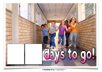 End of Term Countdown Poster