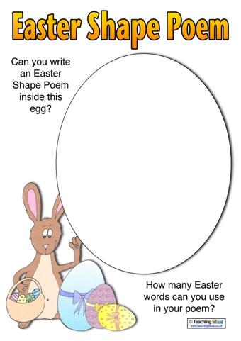 Easter Shape Poem