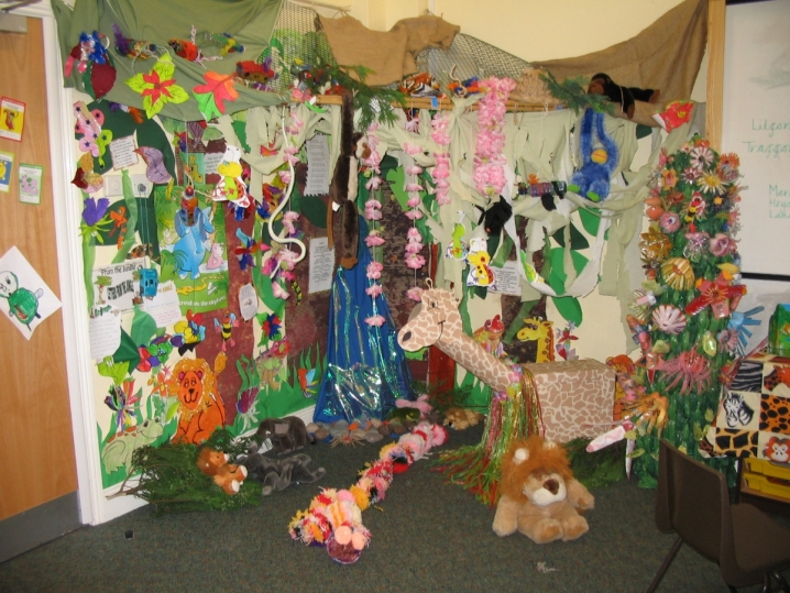 Down in the Jungle Reading Area & Down In The Jungle Reading Area   Teaching Ideas