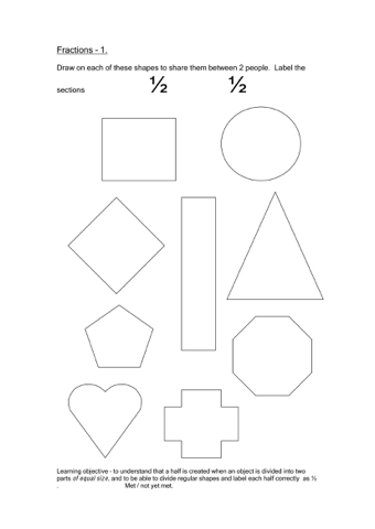 Fractions Worksheets | Teaching Ideas