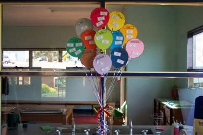Birthday Balloons Display