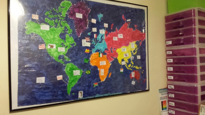 Continent Map Display