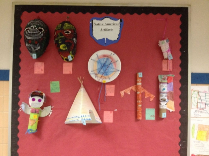 Native American Projects Display