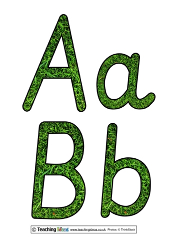 Grass Texture Display Letters