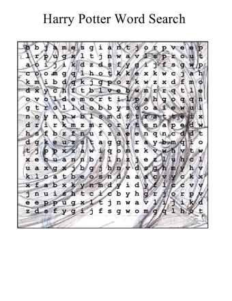 image relating to Harry Potter Word Search Printable named Harry Potter Wordsearch With Thoughts Education Suggestions