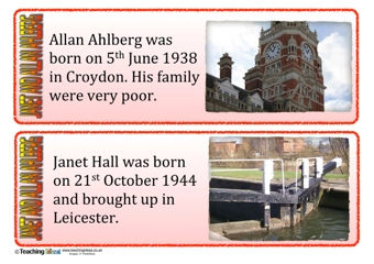 Janet and Allan Ahlberg Fact Cards