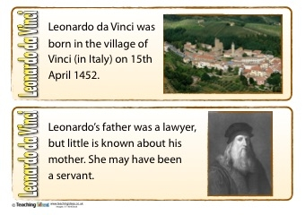 Leonardo da Vinci Fact Cards