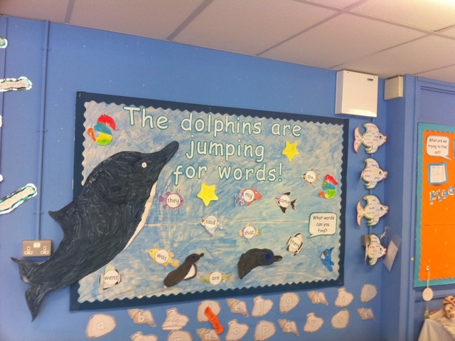 The Dolphins are Jumping for Words Display