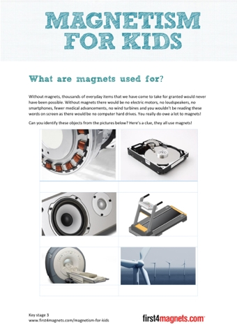 What are magnets used for?