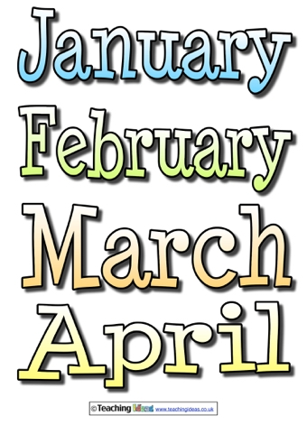 picture relating to Months of the Year Printable referred to as Weeks Of The Calendar year Labels Instruction Strategies