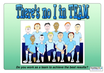 There's no I in TEAM Poster