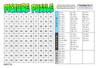 Addition and Subtraction Picture Puzzles
