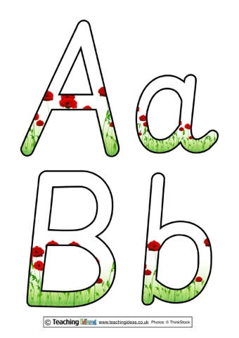 Poppy Display Letters
