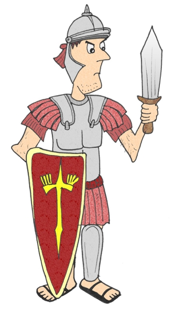 roman soldier display picture teaching ideas