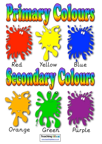 Primary and Secondary Colours