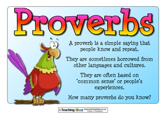 Proverbs   Craft For Kids