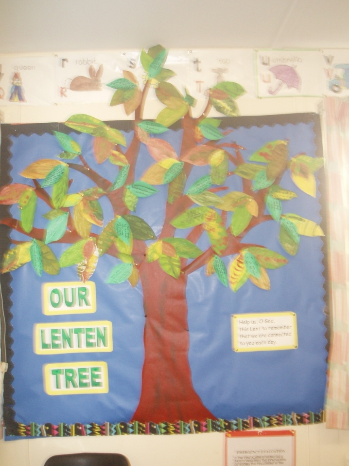 Our Lenten Tree Display Teaching Ideas