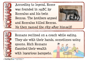 Romans Fact Cards