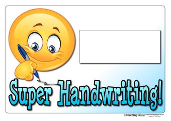 Super Handwriting Certificate