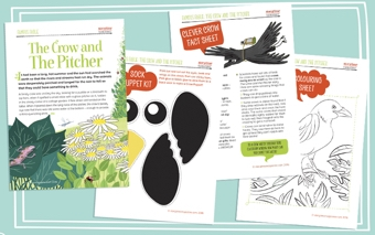 image about Printable Fable titled The Crow And The Pitcher - Fable And Schooling Plans