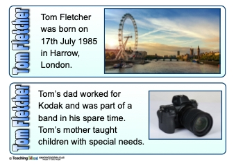 Tom Fletcher Fact Cards